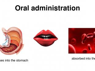 Oral administration passes into the stomach absorbed into the blood