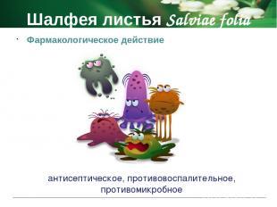 Шалфея листья Salviae folia Противопоказания беременность период лактации детски