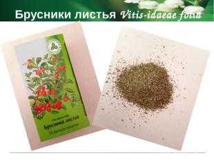 Брусники листья Vitis-idaeae folia Побочные действия аллергические реакции