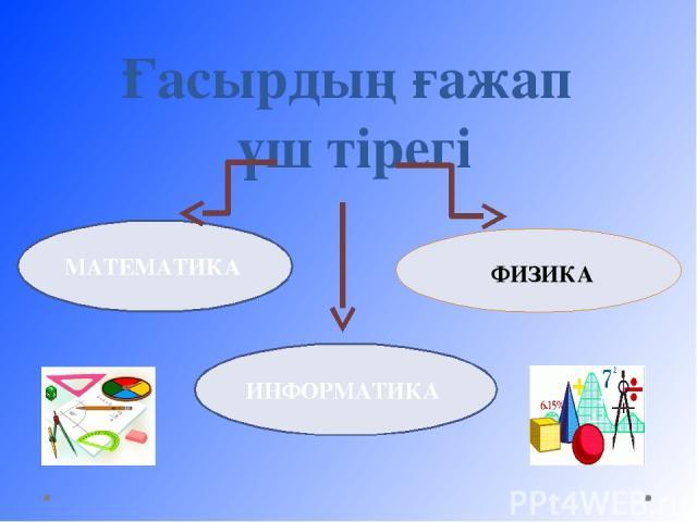 ФИЗИКА МАТЕМАТИКА Ғасырдың ғажап үш тірегі ИНФОРМАТИКА
