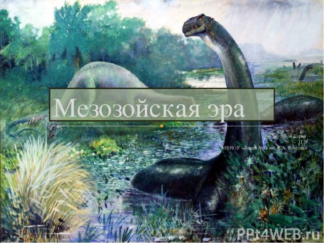Шубиной Дарьи 11 В МБНОУ «Лицей №84 им. В.А. Власова» Мезозойская эра