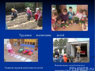 Трудовое воспитание детей Формирование основ безопасного поведения в быту, социу