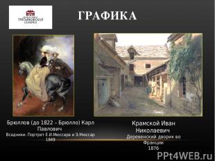 ГРАФИКА Брюллов (до 1822 – Брюлло) Карл Павлович Всадники. Портрет Е.И.Мюссара и