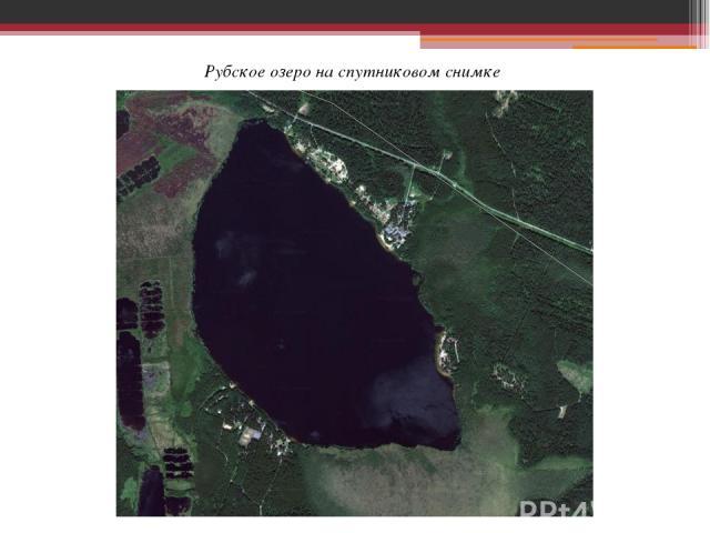 Рубское озеро на спутниковом снимке