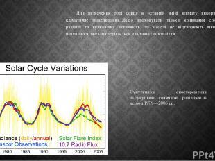 Для визначення ролі сонця в останній зміні клімату використали кліматичне моделю