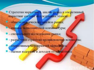 Стратегия маркетинга, анализ рынка и оперативный маркетинг состоят из следующих