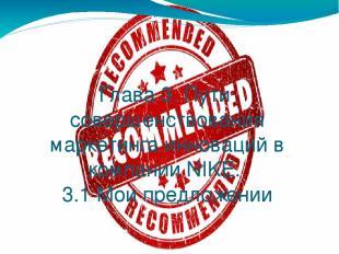 Глава 3. Пути совершенствования маркетинга инноваций в компании NIKE. 3.1 Мои пр