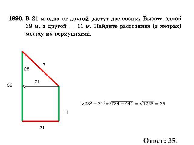 11 39 ? 21 28 21 Ответ: 35.