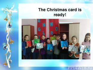 The Christmas card is ready!