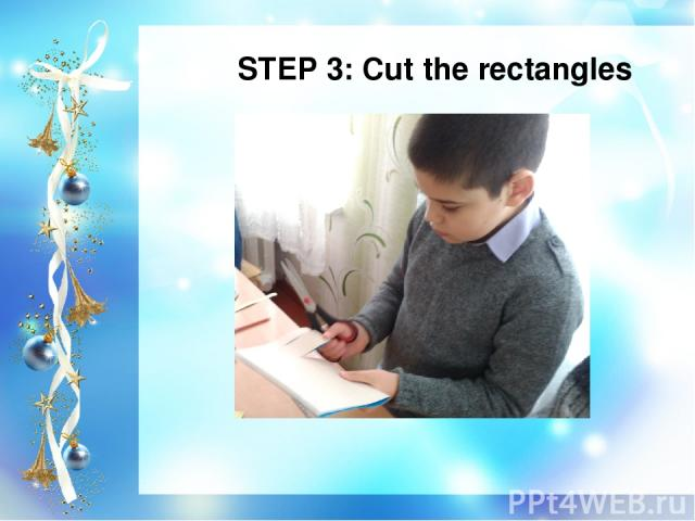 STEP 3: Cut the rectangles