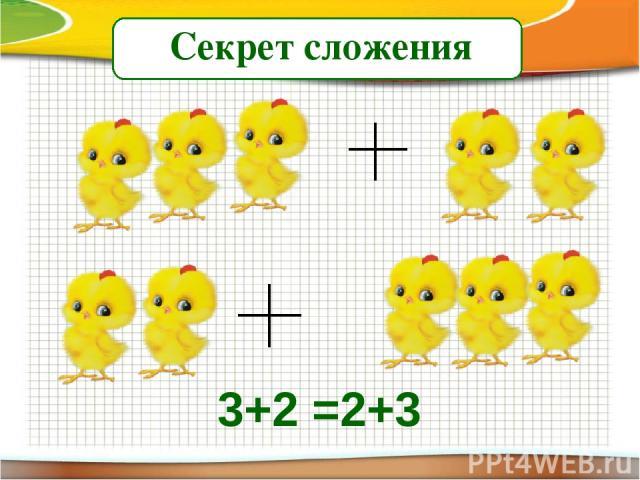Секрет сложения 3+2 =2+3