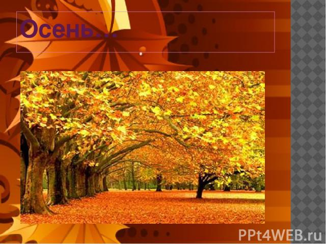 Осень…