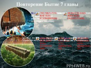 2 Потоп 17 день 2 месяца 2 3 4 5 6 7 8 9 10 11 1 12 2 3 40 дней и ночей Заканчив