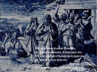 Вот племена сынов Ноевых, по родословию их, в народах их. От них распространилис