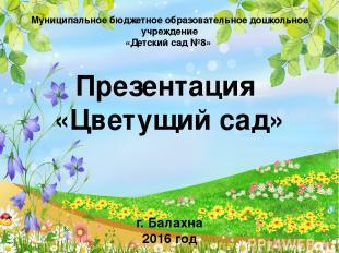 Муниципальное бюджетное образовательное дошкольное учреждение «Детский сад №8» П