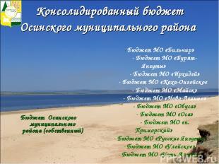 Консолидированный бюджет Осинского муниципального района Бюджет Осинского муници