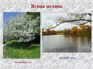 Ясная поляна Яблоневый сад Большой пруд