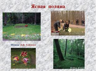 Ясная поляна Могила Л.Н. Толстого