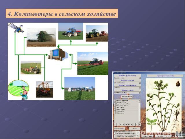 4. Компьютеры в сельском хозяйстве