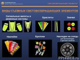 СВЕТОВОЗВРАЩАЮЩИЕ ЭЛЕМЕНТЫ Браслеты Значки Hаклейки Накладки на спицы для велоси
