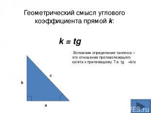 y x 0 Рис.4 y = f (x) x0 x0+h f (x0 ) f (x0+h) M A α B Геометрический смысл прои