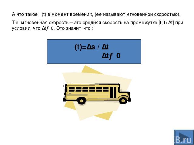 Вывод формул производной