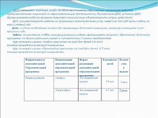 Направленность дополнительной Образовательной программы Наименование дополнитель