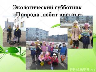 Экологический субботник «Природа любит чистоту»