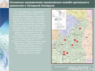 Основные направления национально-освобо-дительного движения в Западной Беларуси