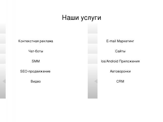 www.royal-m.ru Наши услуги Контекстная реклама Чат-боты SMM SEO-продвижение Видео E-mail Маркетинг Сайты Ios/Android Приложения Автоворонки CRM