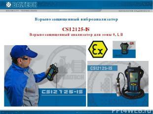 Взрывозащищенный виброанализатор CSI 2125-IS Взрывозащищенный анализатор для зон
