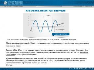 Максимальная Амплитуда (Пик) - это максимальное отклонение от нулевой точки, или