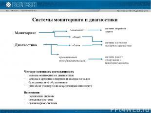 Системы мониторинга и диагностики Мониторинг Диагностика защитный общий общая пр