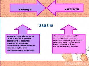 Задачи заключается в обеспечении таких условий обучения, воспитания и развития,