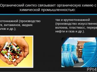 как малотоннажной (производство лекарств, витаминов, жидких кристаллов и др.); т