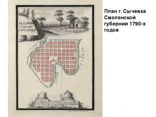 План г. Сычевка Смоленской губернии 1790-х годов