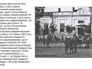 1918 року колекція Леонтовича була націоналізована, а його самого призначили пер