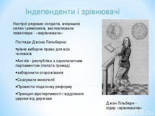 Індепенденти і зрівнювачі Настрої рядових солдатів, вчорашніх селян і ремісників