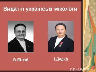 Видатні українські мікологи В.Білай І.Дудка