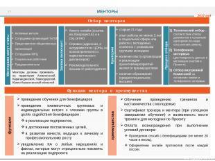 Функции ментора и преимущества проведение обучения для бенефициаров проведение е