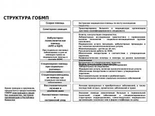 Скорая помощь Амбулаторно-поликлиническая помощь (АПП и КДП) Стационарозамещающа