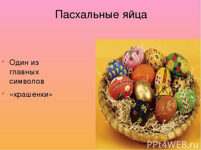 Пасхальные яйца Один из главных символов «крашенки»