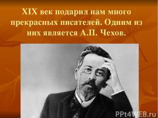 XIX век подарил нам много прекрасных писателей. Одним из них является А.П. Чехов