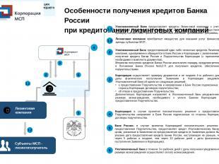 Особенности получения кредитов Банка России при кредитовании лизинговых компаний