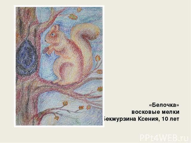 «Белочка» восковые мелки Бекмурзина Ксения, 10 лет