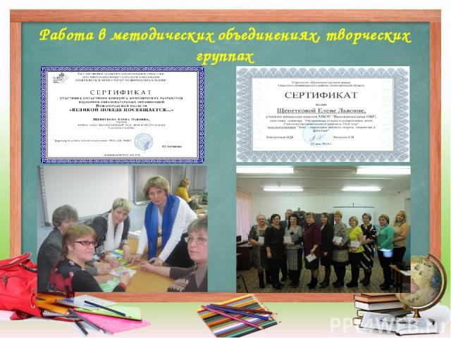 Работа в методических объединениях, творческих группах