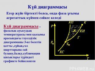 Күй диаграммасы Егер жүйе біртекті болса, онда фаза ұғымы агрегаттық күймен сәйк