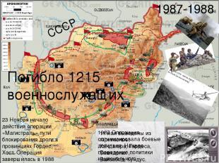 СССР 1987 Оппозиция оптимизировала боевые действия. Начало проведение политики н