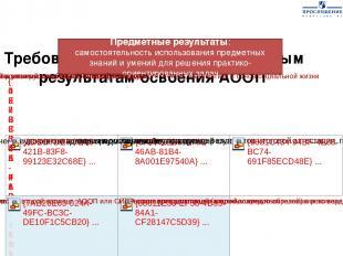 Требования Стандарта к предметным результатам освоения АООП Предметные результат