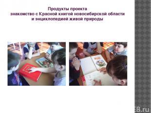 Продукты проекта знакомство с Красной книгой новосибирской области и энциклопеди